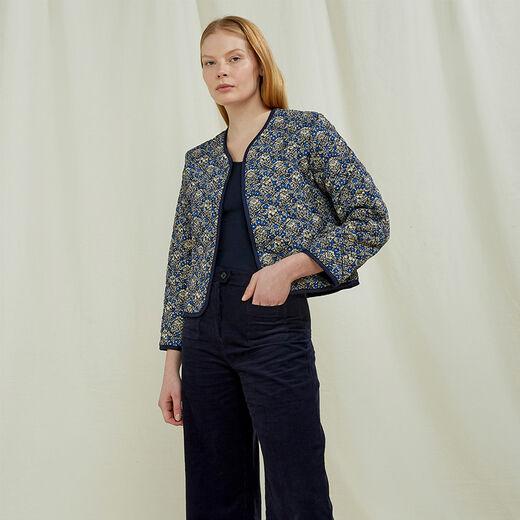V&A Millefleur quilted jacket