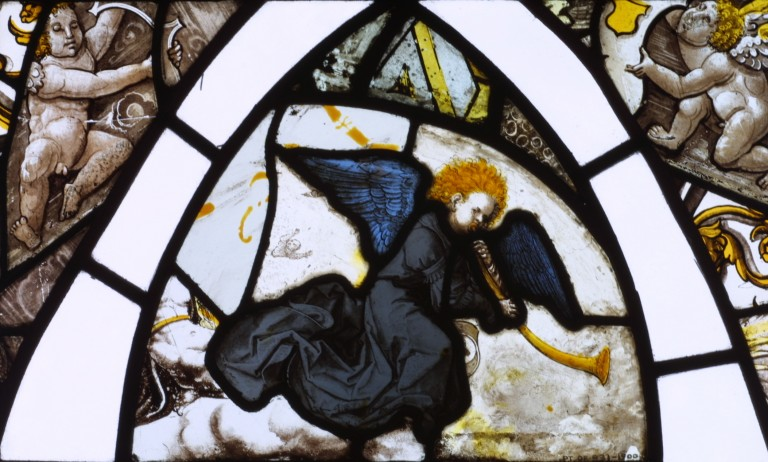 Image of Stained glass fragment
